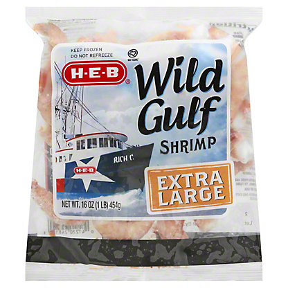 H-E-B Extra Large Raw Wild Gulf Shrimp, 26-30 Count,16 OZ